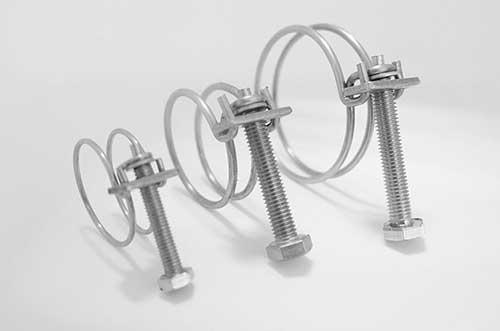 304不锈钢双钢丝喉箍规格表