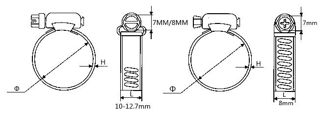 不锈钢喉箍技术参数