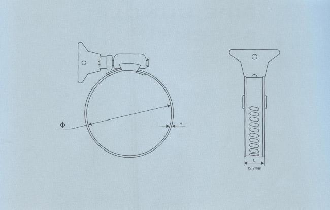 手柄不锈钢喉箍技术参数